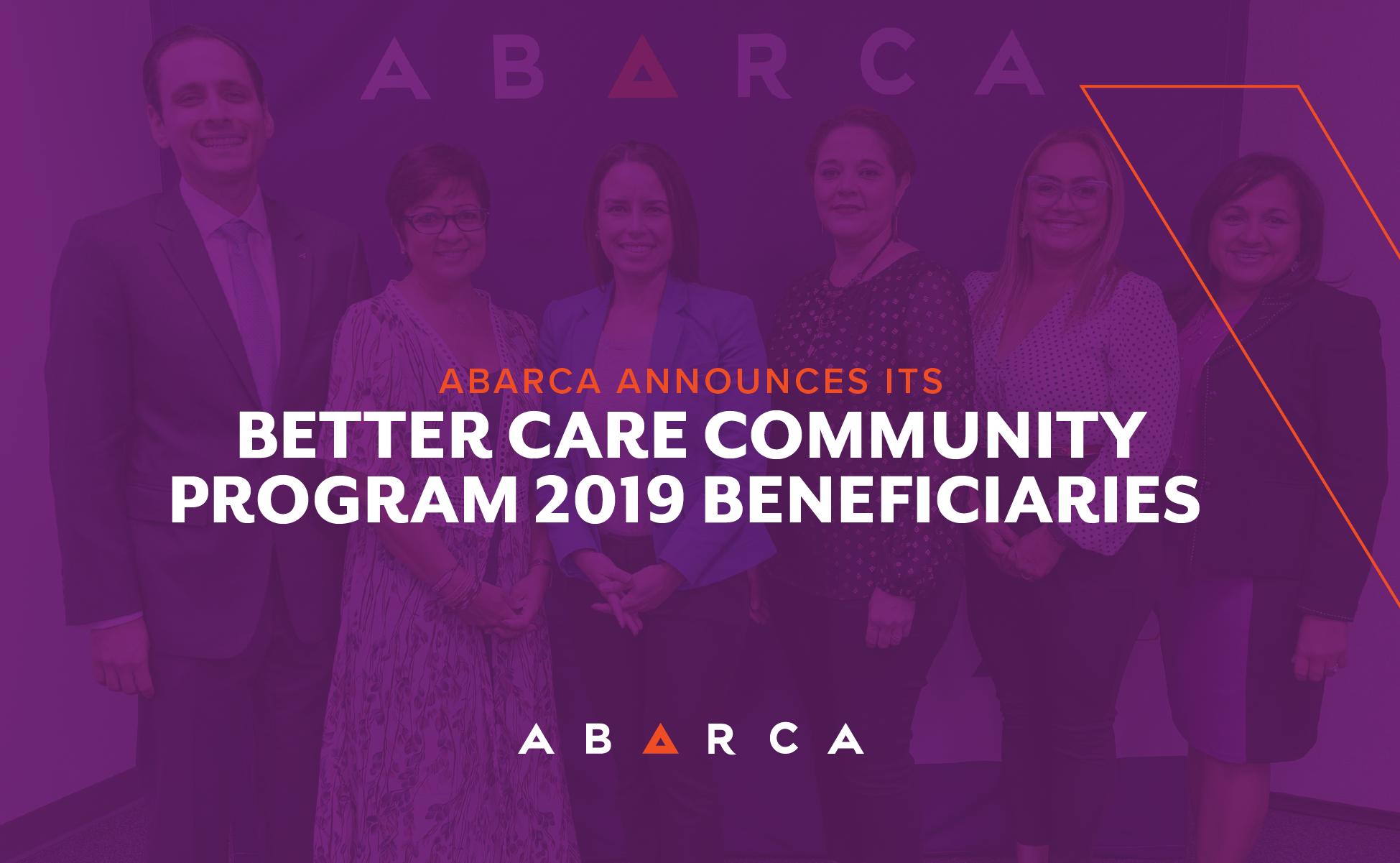 Abarca Announces its Better Care Program Participants