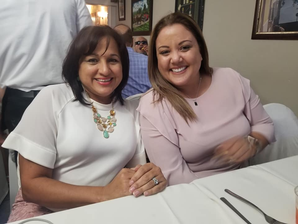 Nayda Rivera, Director of the #BetterCare Community Program with Marta Torres. Blind dinner.