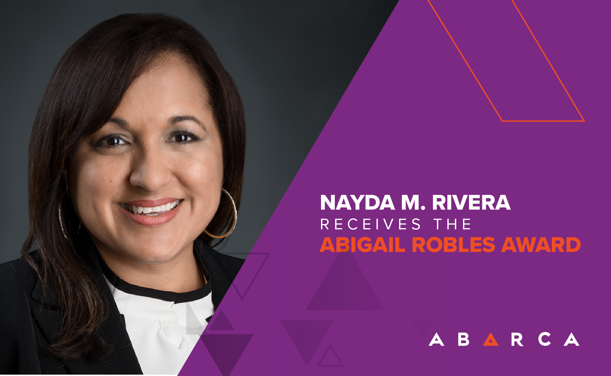 Abarcan Nayda M. Rivera receives the Abigail Robles Award