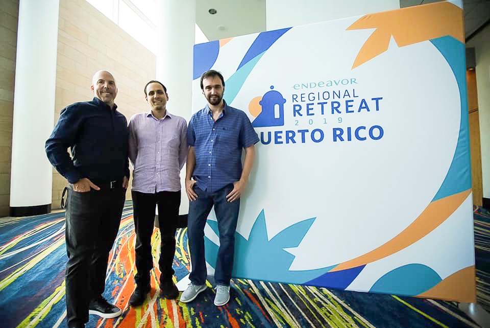 Jason Borschow is joined by fellow Endeavor Entrepreneurs, Carlos García and Leandro Armas from HYP3R at Endeavor Regional retreat 2019