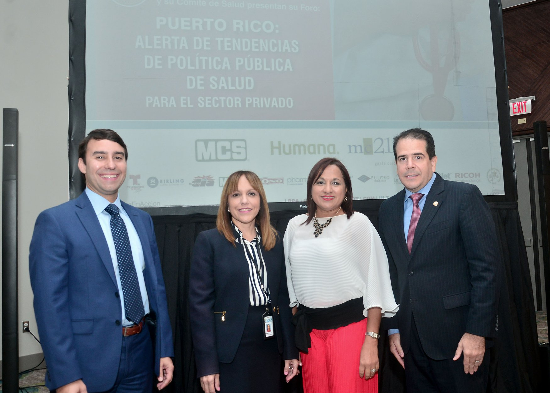 "Nayda Rivera, Executive Director of ASES, Yolanda García-Lugo, and Alejandro Drevón, General Manager of Abbvie.Abarcan Nayda Rivera was selected to lead the panel on ""Puerto Rico: Public Health Policy Trends Alerts for the Private Sector"" at the 2019 Puerto Rico Health Forum"