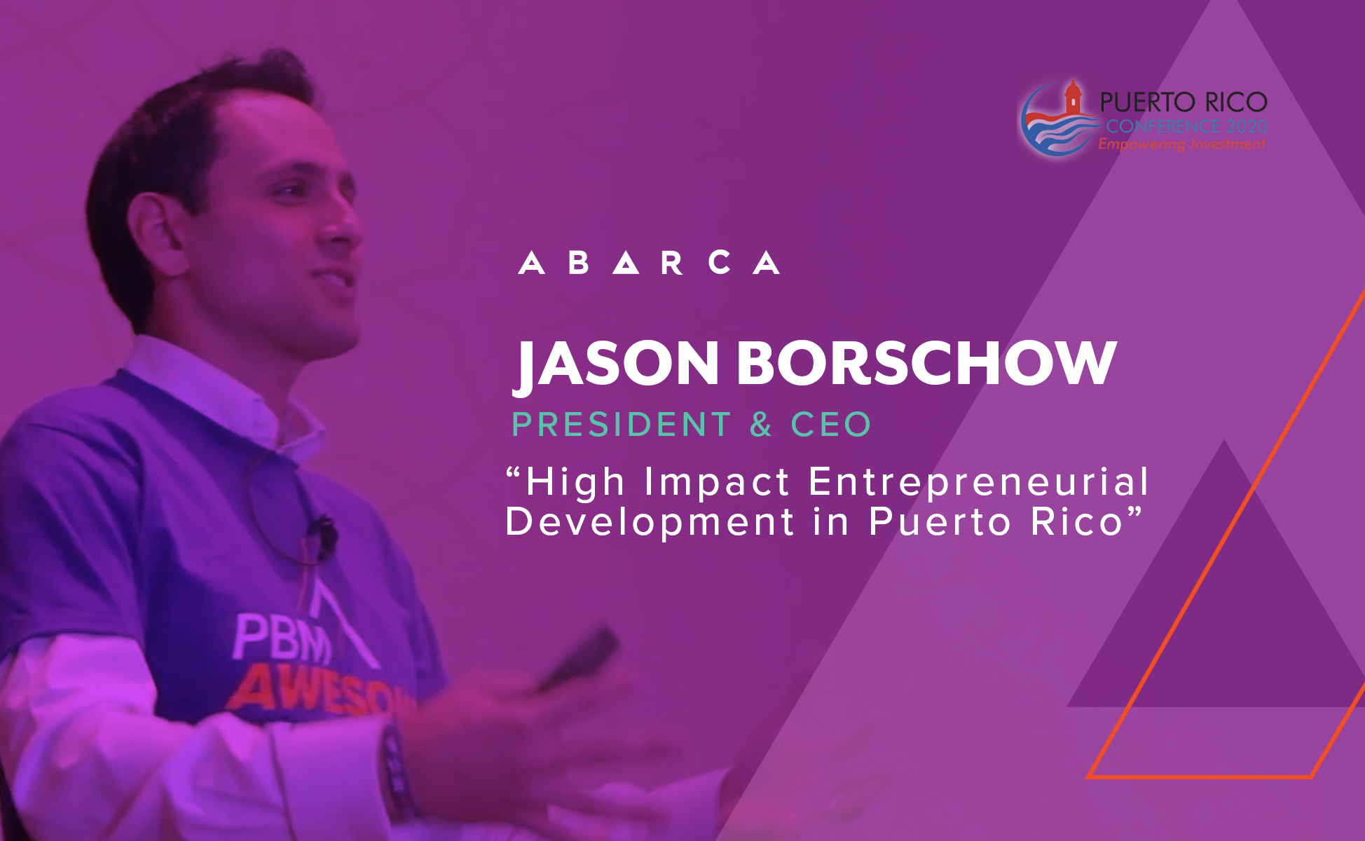 Abarca CEO, Jason Borschow, to present at the Puerto Rico Conference 2020: Empowering Investment
