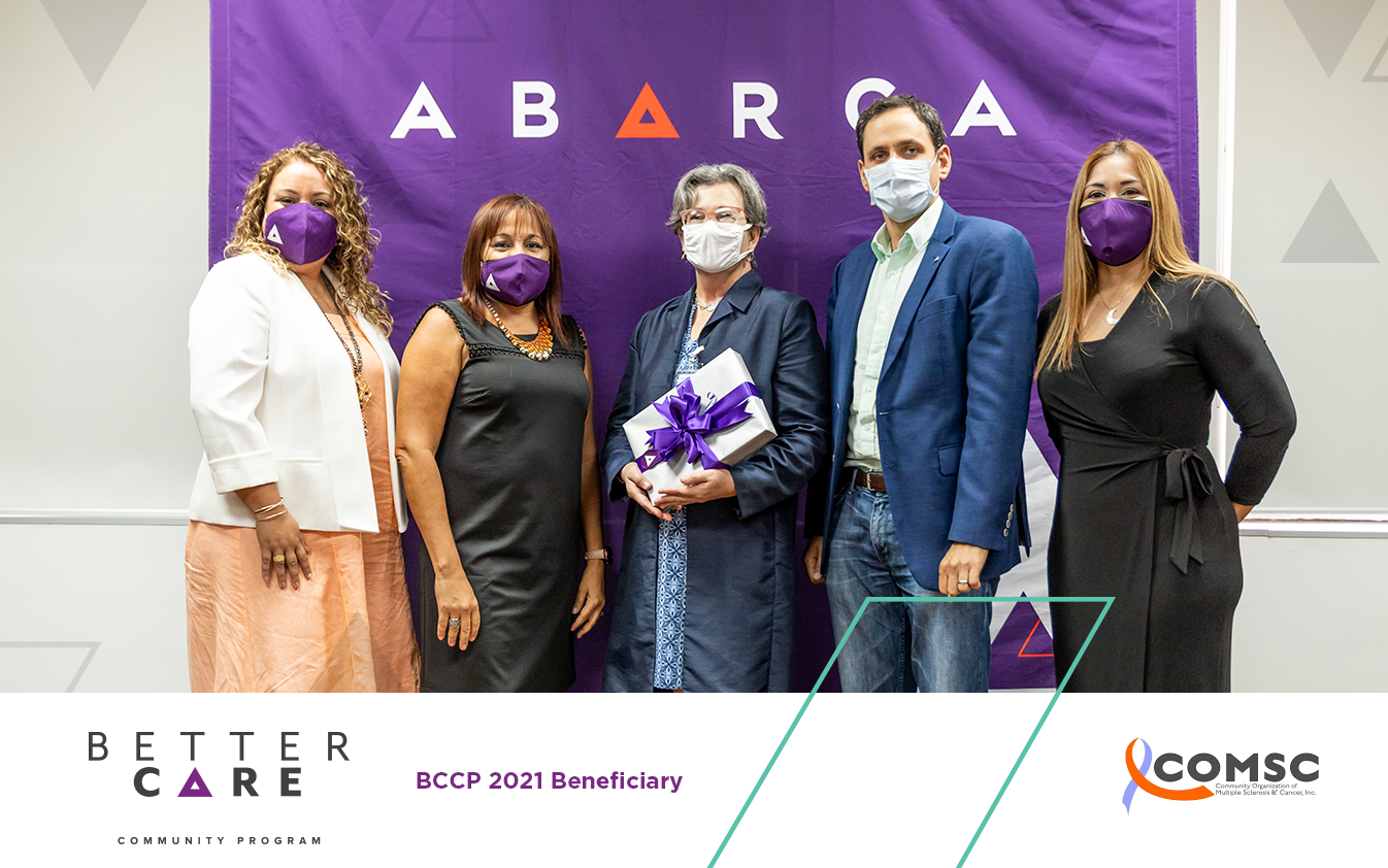 Abarcans chose the Community Organization of MS & Cancer (COMSC) to participate in the second edition of their BCCP